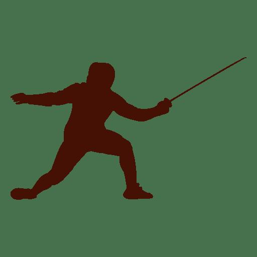 Silueta De Espada De Esgrima Descargar Png Svg Transparente