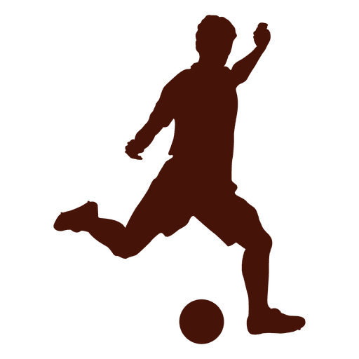 Cruz de fútbol pateando a la izquierda