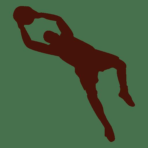 Football goalkeeper catching jump Transparent PNG