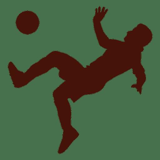 Football kick scissors falling