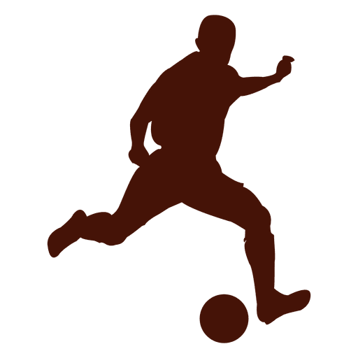 Football player soccer silhouette Transparent PNG
