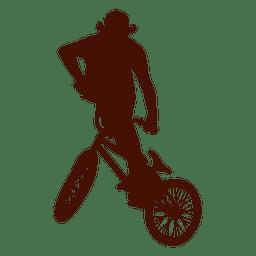 Salto extremo da bicicleta livre