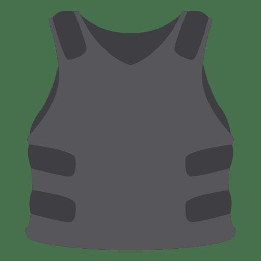 Gray protection vest Transparent PNG