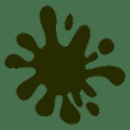 Mancha verde de dibujos animados