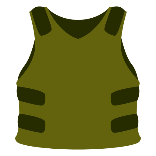 Green protection vest Transparent PNG