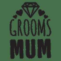 Frases de la boda del diamante de la mamá del novio