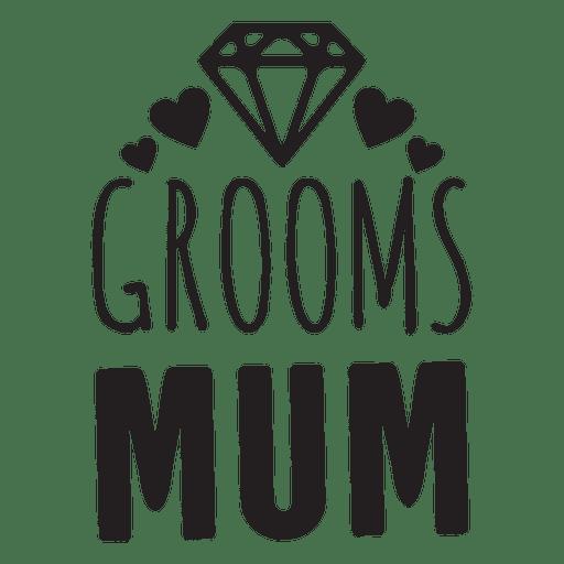 Groom mum diamond wedding phrases