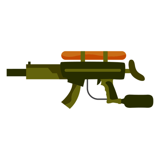Gun colored silhouette Transparent PNG