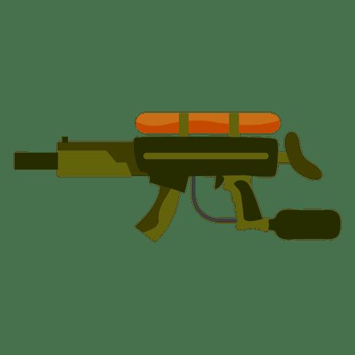 Silhueta de arma colorida Transparent PNG