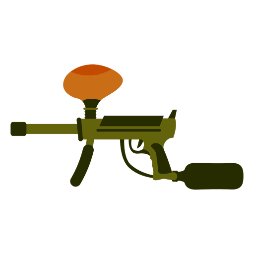 Gun colored silhouette 02 Transparent PNG