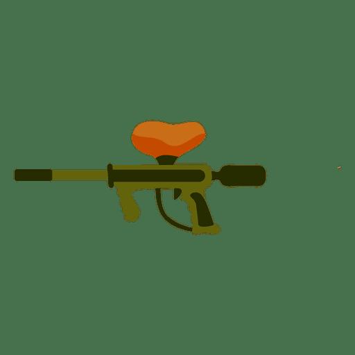 Silhueta de cores de arma Transparent PNG