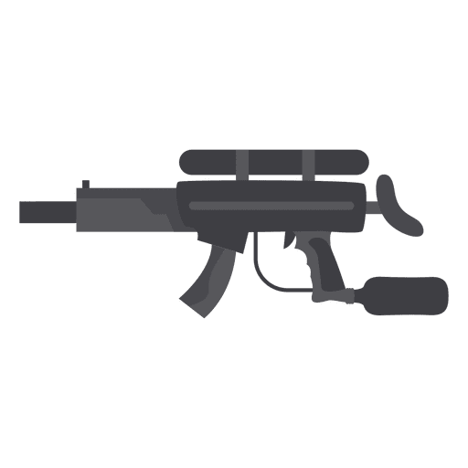 Gun gray silhouette 01 Transparent PNG