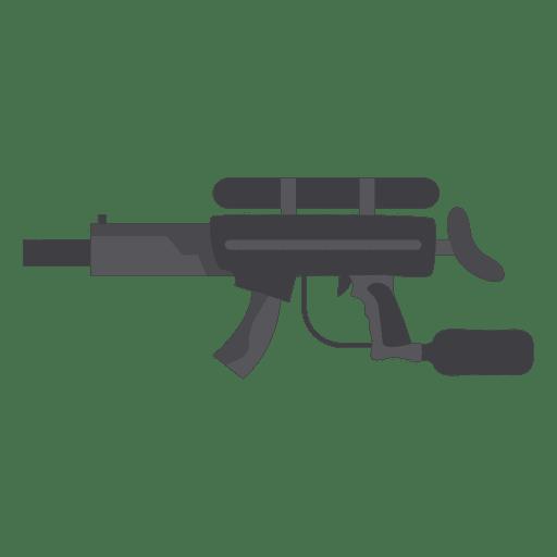 Silhueta de arma cinza 01 Transparent PNG
