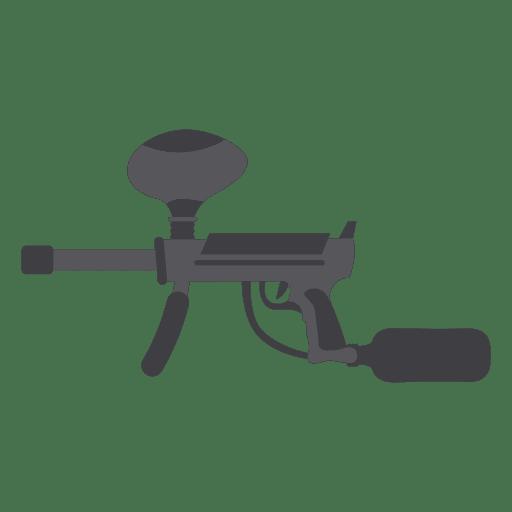 Gun gray silhouette 02 Transparent PNG