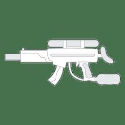 Silueta de pistola 01