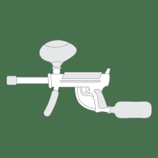 Silhueta de arma 02 Transparent PNG