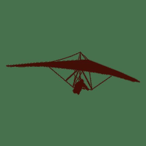 Silueta de deporte de vuelo de ala delta