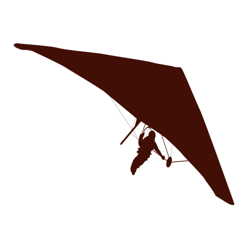 Hang gliding flight silhouette Transparent PNG