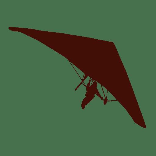 Hang gliding flight silhouette