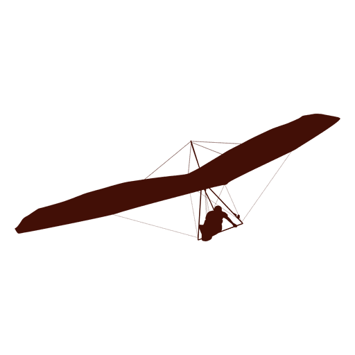 Hang gliding flight right turn Transparent PNG