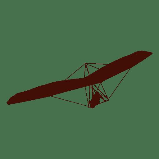 Hang gliding flight right turn