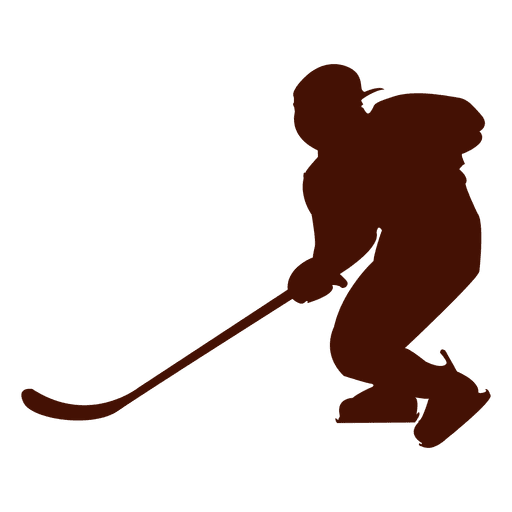 Hockey ice player silhouette Transparent PNG