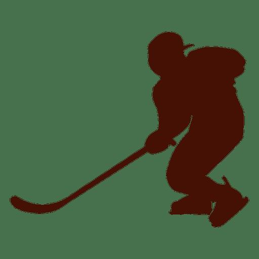 Silhueta de jogador de hóquei no gelo Transparent PNG