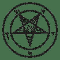 Demônio pentagrama invertido