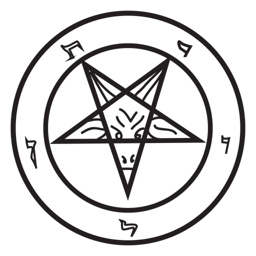 Inverted pentagram demon Transparent PNG