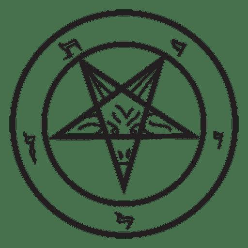 Inverted pentagram demon