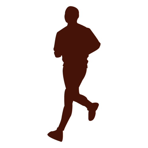 Jogging man recreation shape silhouette Transparent PNG