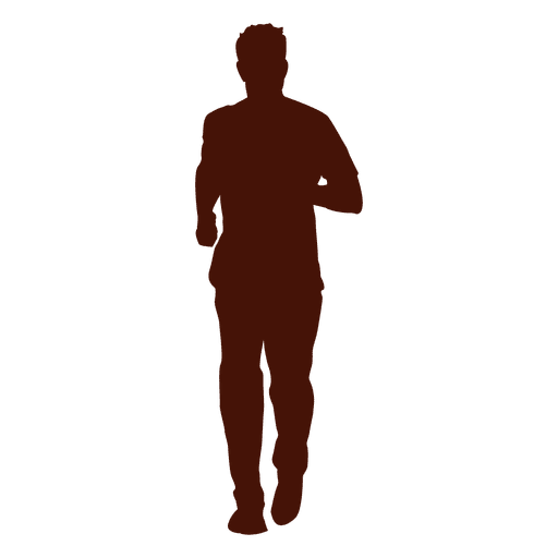 Jogging recreation silhouette Transparent PNG