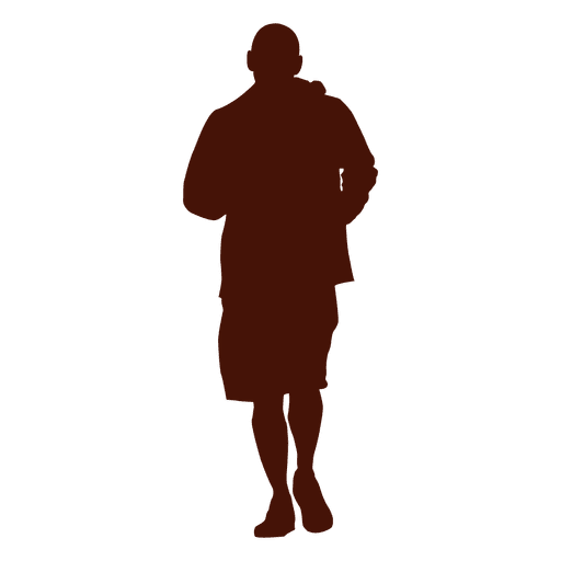 Man jogging recreation silhouette png