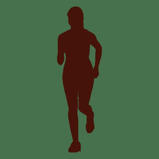 Woman jogging recreation silhouette Transparent PNG