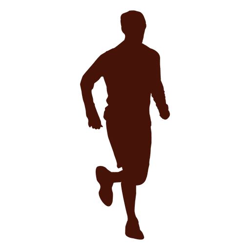 Jogging recreation man shape png
