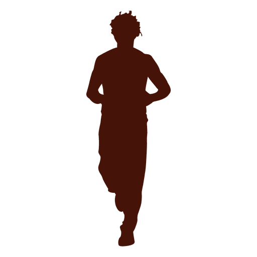 Man jogging training silhouette Transparent PNG