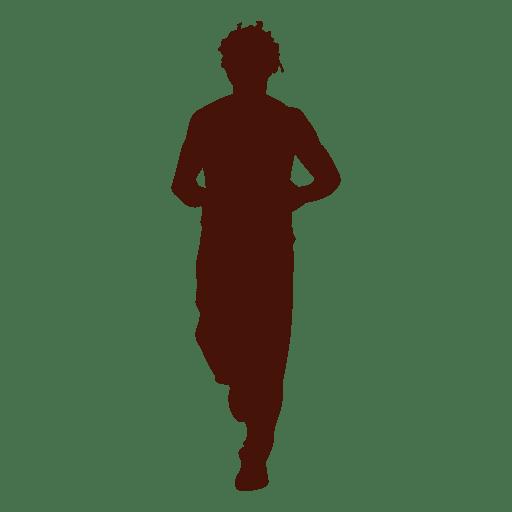 Man jogging training silhouette png