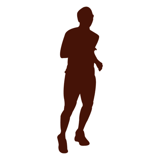 Jogging running silhouette Transparent PNG