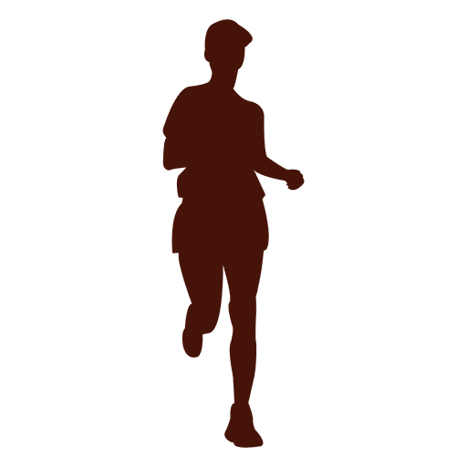Jogging recreation shape silhouette Transparent PNG