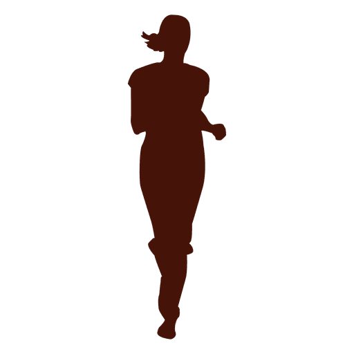 Woman jogging running silhouette Transparent PNG