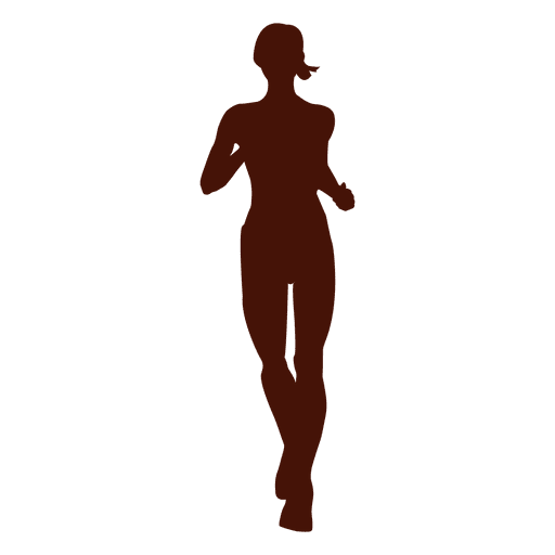 Jogging recreation woman silhouette Transparent PNG