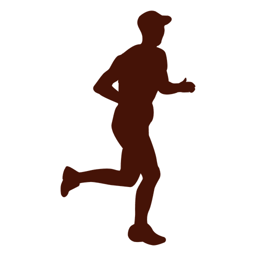 Jogging recreation side view silhouette Transparent PNG