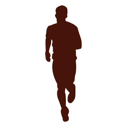 Jogging recreation man silhouette Transparent PNG