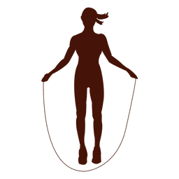 Jump rope shape exercise silhouette