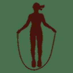 Silhueta de exercício de forma de pular corda