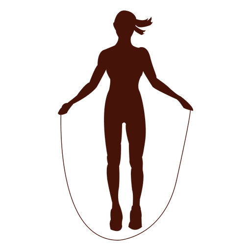 Jump rope shape exercise silhouette Transparent PNG