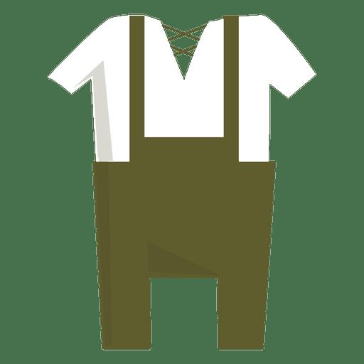 Lederhosen typical german dress men Transparent PNG