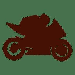 Velocidade de corrida de moto