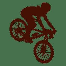 Bicicleta de montaña cuesta abajo