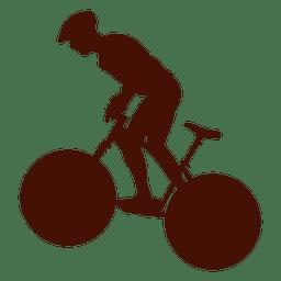 Silhueta extrema de mountain bike